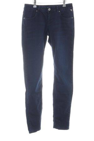 Betty & Co Pantalon cigarette bleu style décontracté