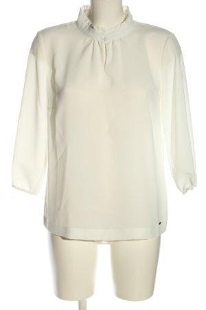 Betty & Co Bluzka z falbankami biały W stylu biznesowym