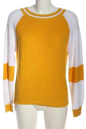 Betty & Co Kraagloze sweater sleutelbloem-wit casual uitstraling