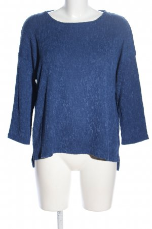 Betty & Co Rundhalspullover blau meliert Casual-Look