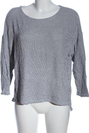 Betty & Co Bluzka przez głowę jasnoszary-czarny Wzór w paski W stylu casual