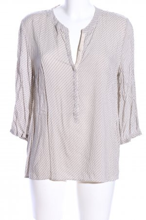 Betty & Co Schlupf-Bluse weiß-braun Allover-Druck Business-Look