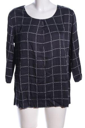 Betty & Co Schlupf-Bluse schwarz-weiß Schriftzug gestickt Casual-Look