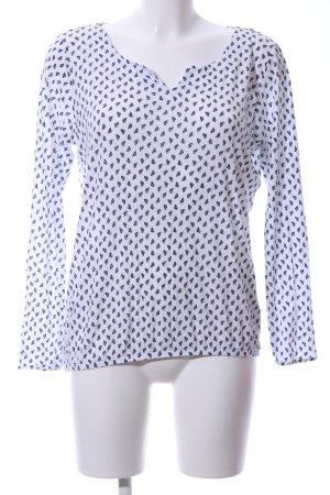 Betty & Co Schlupf-Bluse weiß-schwarz Allover-Druck Casual-Look