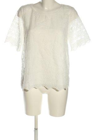 Betty & Co Koronkowa bluzka biały W stylu casual