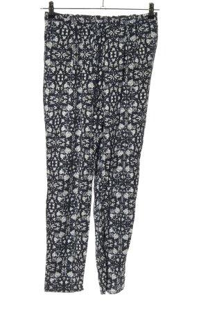 Betty & Co Pantalone jersey nero-bianco stampa integrale stile casual