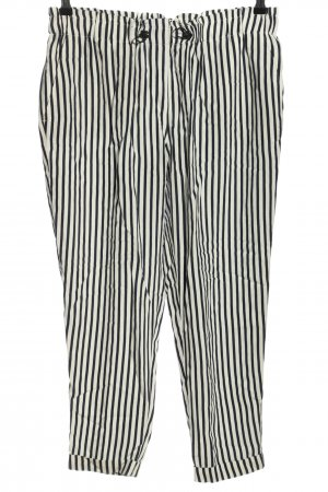 Betty & Co Stoffhose weiß-schwarz Streifenmuster Casual-Look