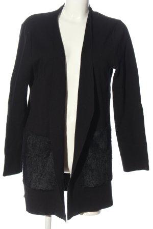 Betty & Co Gebreide cardigan zwart zakelijke stijl