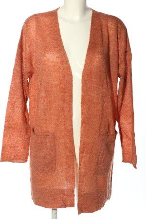 Betty & Co Gebreide cardigan licht Oranje casual uitstraling
