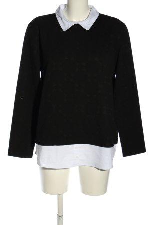Betty & Co Pull tricoté noir-blanc style d'affaires
