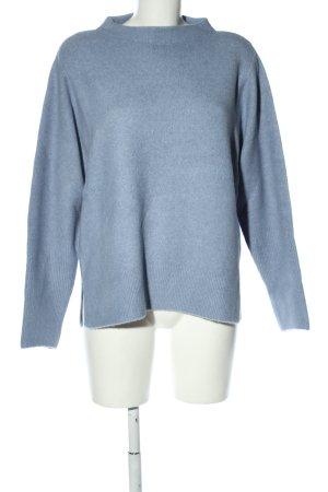Betty & Co Gebreide trui blauw gestippeld casual uitstraling