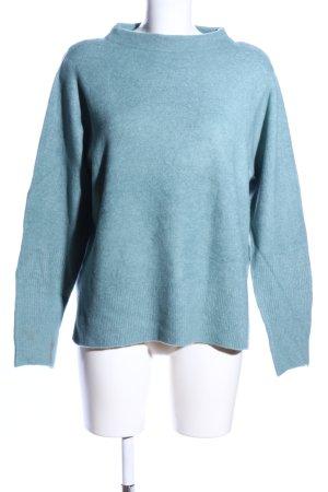 Betty & Co Strickpullover blau meliert Casual-Look