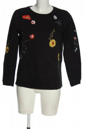 Betty & Co Sweatshirt Blumenmuster Elegant
