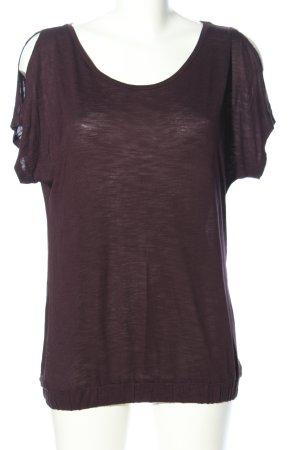 Betty & Co T-Shirt lila meliert Casual-Look