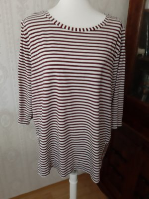 Betty & Co T-shirt bianco-rosso scuro
