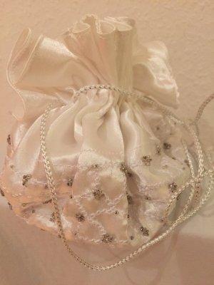 Beutel aus Satin mit Perlen für Braut, Kommunion, Hochzeit