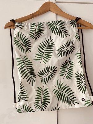 Bolso de tela blanco-verde bosque