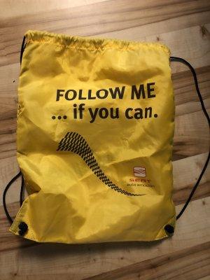 Jute tas zwart-geel