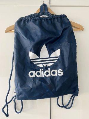 Adidas Bolso de tela azul oscuro-blanco