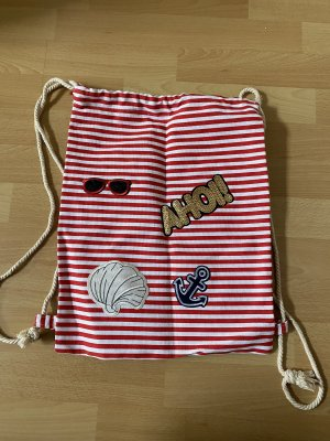 Canvas Bag white-red