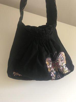 Beutel Tasche mit Pailletten Schmetterling