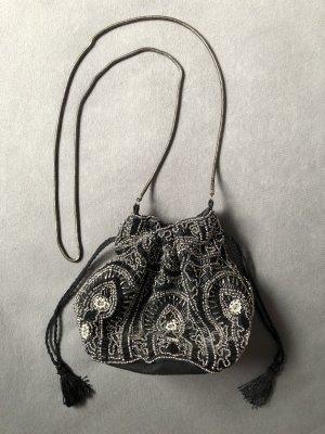 Pimkie Pouch Bag black-silver-colored