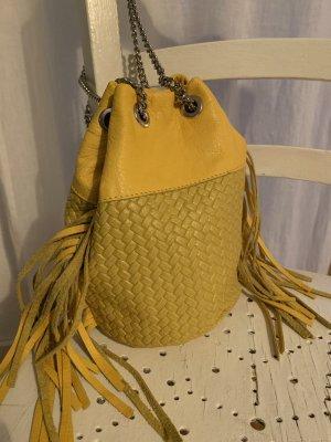 Torebka typu worek żółty