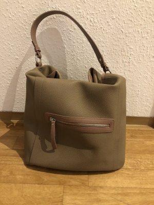 Bonita Pouch Bag grey brown-dusky pink