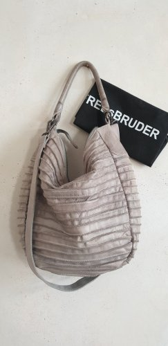 Fredsbruder Pouch Bag silver-colored-light grey leather