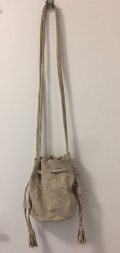 Zara Pouch Bag oatmeal-cream leather