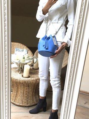 Zara Pouch Bag silver-colored-cornflower blue