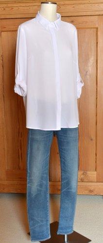 BEXLEY´s Woman 46 Bluse Hemd Hemdbluse Weiß 3/4-Arm oversize Boyfriend Bexleys