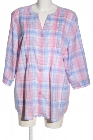 Bexley's Woman Hemdblouse roze-blauw volledige print casual uitstraling