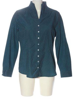 Bexley's Woman Camicia a maniche lunghe blu stampa integrale stile casual