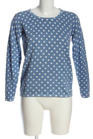 Bexley's Woman Maglione girocollo blu-bianco stampa integrale stile casual