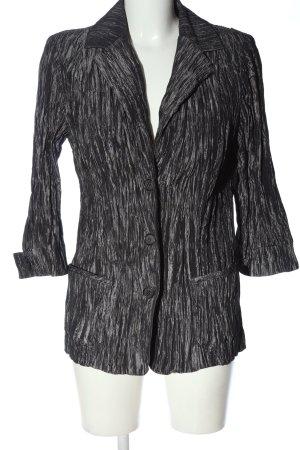 Bexleys Blusenjacke schwarz-hellgrau meliert klassischer Stil