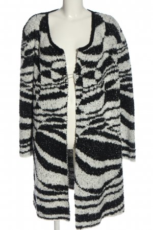 Bexleys Cardigan schwarz-weiß abstraktes Muster Casual-Look