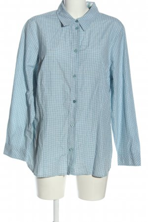 Bexleys Lumberjack Shirt blue-white allover print casual look