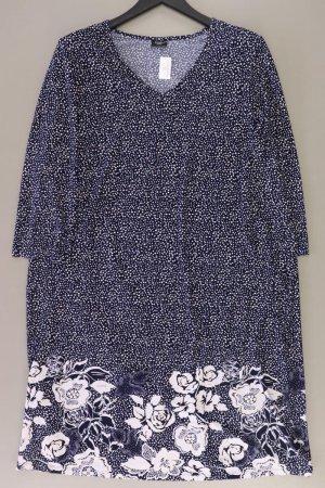 Bexleys Jerseykleid Größe 50 mit Blumenmuster Langarm blau