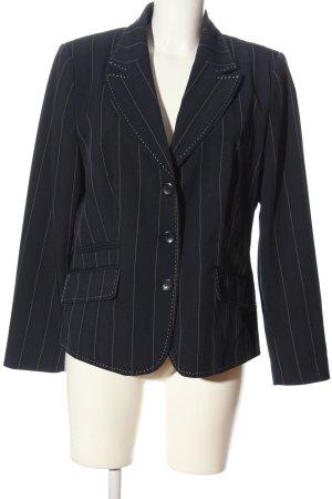 Bexleys Klassischer Blazer zwart volledige print zakelijke stijl