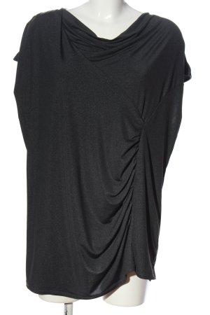 Bexleys Kurzarm-Bluse schwarz Casual-Look