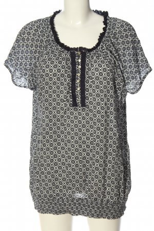 Bexleys Short Sleeved Blouse white-black allover print casual look