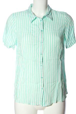 Bexleys Chemise à manches courtes turquoise-blanc motif rayé