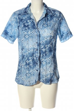 Bexleys Short Sleeve Shirt blue-white allover print casual look