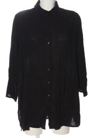 Bexleys Shirt met lange mouwen zwart casual uitstraling