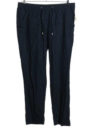 Bexleys Pantalon en lin bleu style décontracté