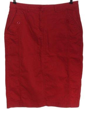 Bexleys Midi-rok rood casual uitstraling