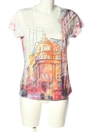 Bexleys Print-Shirt abstraktes Muster Casual-Look