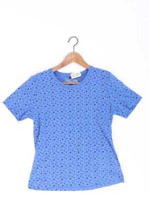 Bexleys Print Shirt blue-neon blue-dark blue-azure cotton