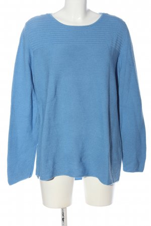 Bexleys Crewneck Sweater blue striped pattern casual look